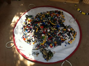 Lego storage bag, open