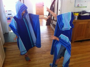 A&E dancing in their wizard towels